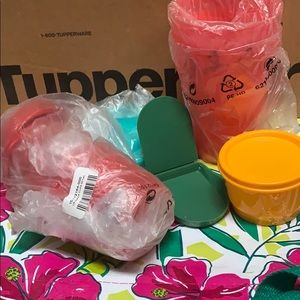 Tupperware tumbler and snack cup bundle